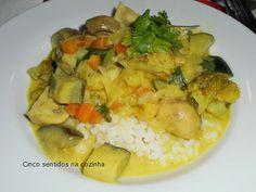 Cinco sentidos na cozinha: Caril de legumes com leite de coco