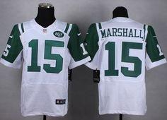 "$23.88 at ""MaryJersey""(maryjerseyelway@gmail.com) Nike Jets 15 Brandon Marshall White Men Stitched NFL Elite Jersey"