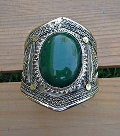 Cuff bracelet Tribal bracelet Afghan bracelet by ZamarutJewel