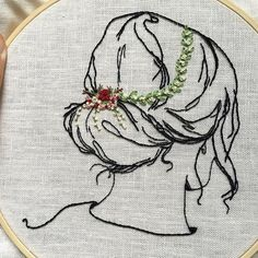 This gentle beauty may be making an appearance on my hoop again. I want to revisit this time period. I've been researching Victorian era hats and boy, are they elaborate! New challenge? Possibly. . . . #embroidery #handstitched #handmade #victorian #hair #hairstyle #makersgonnamake #creativelifehappylife