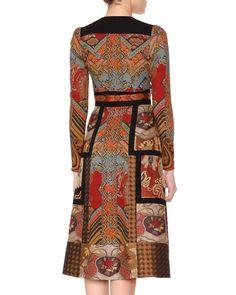 Patchwork Paisley Jacquard Dress