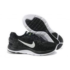 Seneste Nike LunarGlide+ 4 Shield Herresko Sort Hvid Sko Online|Bedste Nike LunarGlide+ 4 Shield Sko Online|Sælg Nike Lunar Sko Online|dkfree.com