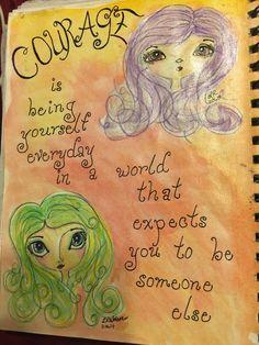 SPLAT PAINT - ART Journaling: Art Journaling: Courage Girls