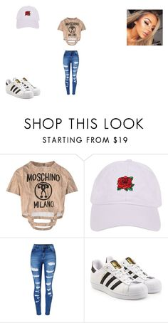 """""""Untitled #25"""" by melanie2344 ❤ liked on Polyvore featuring Moschino, Armitage Avenue, WithChic and adidas Originals"""
