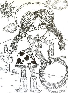 Cowgirls (Shoot em Up) Coloring Book Page colouring adult detailed advanced printable Zentangle anti-stress, Färbung für Erwachsene, coloriage pour adultes, colorare per adulti, para colorear para adultos, раскраски для взрослых, omalovánky pro dospělé, colorir para adultos, färgsätta för vuxna, farve for voksne, väritys aikuiset Line Art Black and White https://www.etsy.com/shop/ChubbyMermaid