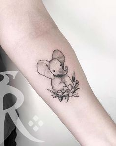 61 Cool and Creative Elephant Tattoo Ideas Cute Ankle Tattoos, Ankle Tattoos For Women, Pretty Tattoos, Tattoos For Women Small, Cute Tattoos, Beautiful Tattoos, Small Tattoos, Elephant Tattoo Meaning, Cute Elephant Tattoo