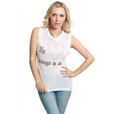 WILDFOX My Heart Belongs To Me Dylan Tee in White