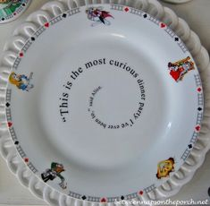 Alice in Wonderland Dishware Dinner Plate_wm