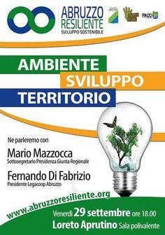 Abruzzo Resiliente il 29 settembre  prende il via il ciclo di incontri