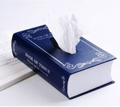 Book Style Paper Towel Tissue Box – $33 http://thegadgetflow.com/portfolio/book-style-paper-towel-tissue-box/