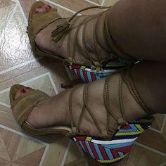 Jessica Simpson Fringe Trim Sandals