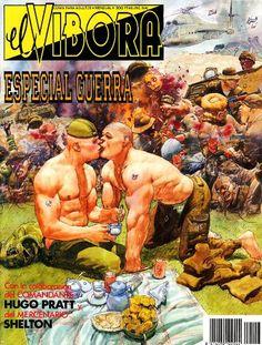 """cMag300 - """"El Víbora"""" Comic cover by Das Pastoras / Especial Guerra / 1990"""