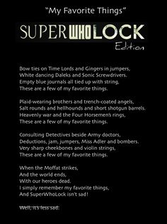 The Theme Song for the SuperWhoLock Fandom.