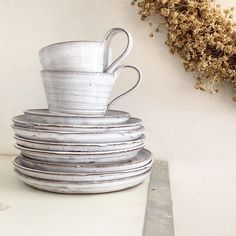 Have a nice weekend! by tuiaskeramiikka Kitchen Dishes, Kitchen Dining, Nice Weekend, Wabi Sabi, Lovely Things, Stoneware, Decor Ideas, Cottage, Pottery