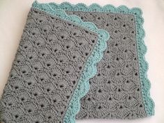 Image result for teal and gray baby blanket