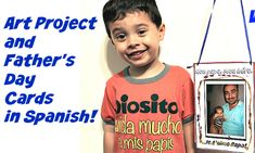 Fathers Day art project and Father's Day Cards in Spanish
