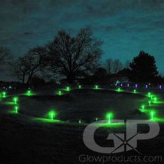 14 Inch Glowing LED Marker Sticks with Ground Stakes Led Light Stick, Light Up, Golf Flag, Night Time, Markers, The Darkest, Northern Lights, Golf Courses, Glow