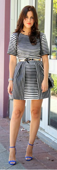 I like the piecing used to take advantage of this stripe fabric. / Voluminous By Fashion Container