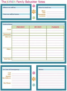 IHeart Organizing: March Featured Space: Kids - Babysitter Buddy