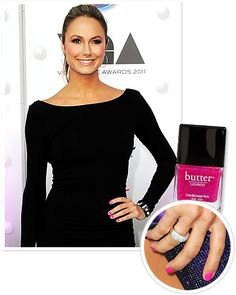 Hot pink is no longer restricted to '80s revivals; #StacyKeibler makes the bold color chic by keeping the rest of her look low-key. http://www.instyle.com/instyle/package/general/photos/0,,20578443_20578084_21132427,00.html