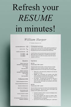 This modern, professional resume template is ideal for marketing, administrative and sales posts - and more! Welcome from Developing Careers - resume templates / CV templates and cover letters designed to help you make a superb first impression – because first impressions last! Cover Letter Design, Cover Letters, Cover Letter Template, Resume Words, Resume Cv, Resume Writing, Simple Resume Template, Cv Template, Resume Templates