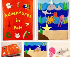 Felt book/Quiet book/Busy book - Adventures in Felt