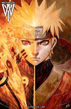 Naruto / Sage Mode Split - x Museum Quality 80 lb. Naruto Shippuden Sasuke, Naruto Kakashi, Anime Naruto, Sakura Anime, Gaara, Naruto Fan Art, Manga Anime, Anime Ninja, Naruto Wallpaper