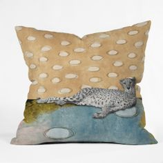 Natalie Baca Abstract Cheetah Throw Pillow   DENY Designs Home Accessories
