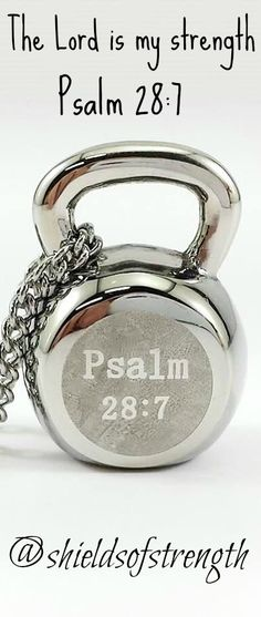 "Shields of Strength - Psalm 28:7 ___ ""The Lord is my strength."" - Kettlebell Necklace"
