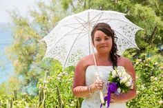 classic white lace parasol- perfect for weddings in the sun