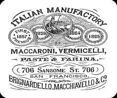 Vintage Italian Pasta Co ad San Francisco Mouse Pad mousepad. $10.00, via Etsy.