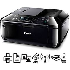 The Canon Pixma Wireless Office All-In-One Printer offers all the MFP features you likely need. Canon Ink, Printer Ink Cartridges, All In One, Printers, Wi Fi, Gadgets, Walmart, Tech, Appliances