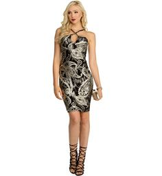 Black Party In Paisley Dress