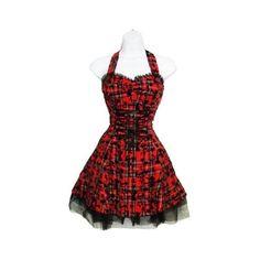 1004 Mini Party Dress TARTAN RED Lace PUNK Club S 10 ($37) ❤ liked on Polyvore featuring dresses, tartan dress, plaid cocktail dresses, plaid mini dress, plaid dress and lace mini dress