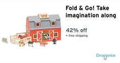 "Help me drop the price of the Melissa & Doug Wooden Barn to $28.99 (42% off). The price continues dropping as more moms click ""Drop the price"". Moms drop prices of kids & baby products by sharing them with each other."