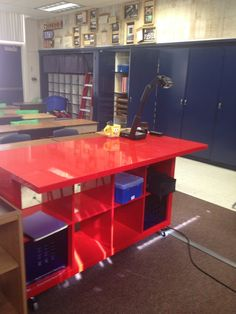 One more Expedit standing desk that my husband made from ikea parts for my classroom !