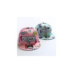 Patterned Baseball Cap ($12) ❤ liked on Polyvore featuring accessories, hats, women, print hats, cocktail hat, pattern hats, baseball cap and baseball cap hats