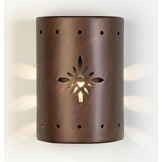 Ceramic Star Pattern Outdoor Wall Light