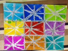 Le trait rayonnant : encre et drawing gum