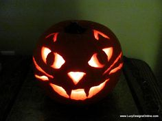 Quick and Easy Cat Face Pumpkin Carving with Rotozip Power Tool