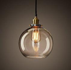 dettagli su nuova industriale vetro lampadario camera da letto ... - Lampade Sospensione Camera Da Letto
