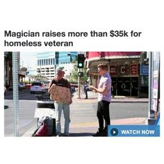 Magician raises more than $35k for homeless veteran Read more at http://www.9news.com.au/entertainment/2014/10/12/10/43/magician-raises-more-than-35k-for-homeless-veteran#qWHFlfvpq1VcXe06.99 ********************************************* #corporateentertainers #corporatemagicians #corporatebostonmagicians #bostonentertainers #davechandler #closeupshow #revueshowsentertainers #theatershowsentertainers #germanmagiccircle #massachusettsmagician #massachusetts #boston #newhampshire…