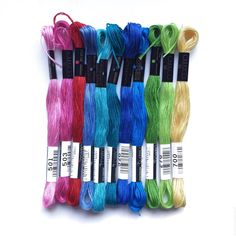 Cosmo threads - fabulously bright and a dream to embroider with.