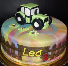 torta, cake s traktorom