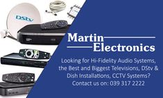 Martin Electronics is the premier Dstv installation & Multichoice agents, we do holiday TV and smart card rentals to accommodate the hospitality industry Dish Tv, Tv Remotes, Le Net, Family Tv, How To Find Out, Electronics