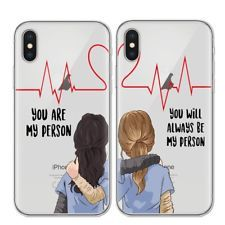 You're You are My Person Greys Anatomy Soft Case Cover for Huawei iPhone Samsung Iphone 5s, Bff Iphone Cases, Bff Cases, Cute Phone Cases, Iphone 8 Plus, Best Friend Cases, Love You Best Friend, Friends Phone Case, Best Friends