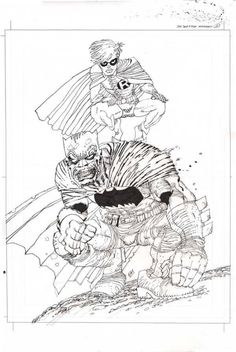 FM DK Comic Art Comic Book Drawing, Comic Books Art, Comic Art, Book Art, Frank Miller Art, Batman Universe, Batman Vs, Book Images, Comic Covers