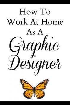 How to Work At Home As A Graphic Designer. Great tips and resource list full of different websites to learn about Graphic Design