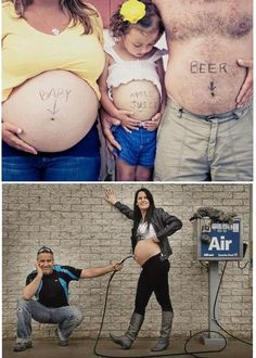 pregnancy photo ideas - these poses are great for birth announcement cards or maternity photos