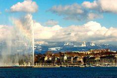 Curiosidades. El agua del Jet d'Eau de Ginebra puede alcanzar los 140 metros de altura y puede verse desde casi cualquier rincón de la ciudad.